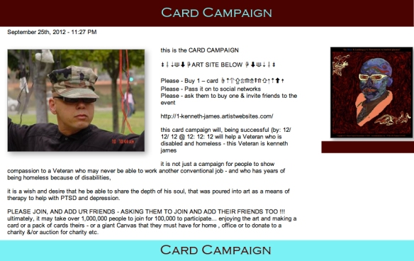 Card Campaign, helping one Veteran @ a time!!!