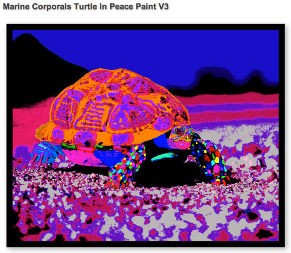 Marine Corporal's Turtle in Peace Paint